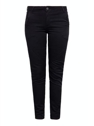 Way of Glory Way of Glory WAY OF GLORY Damen Jeans mit diagonalen Teilungsnähten am Bein in schwarz