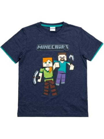 Minecraft T-Shirt Mining Team gray 116cm