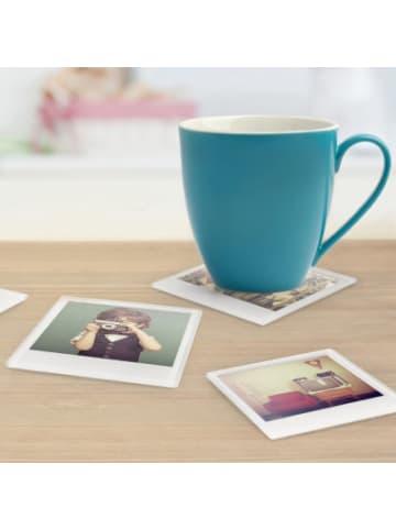 """Mustard 4er-Set Glas-Untersetzer """"Sofortbild Design für eigene Fotos"""" 11x9 cm"""