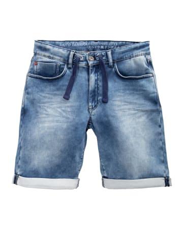 Akito Tanaka Akito Tanaka AKITO TANAKA Herren Jogg Shorts im Denim-Look in blau