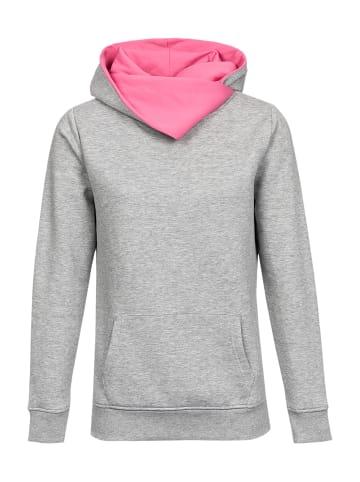 Nastrovje Potsdam Schalkragenpullover Nastrovje Potsdam Shawl Collar in grau meliert/pink