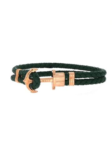 "Paul Hewitt Armband ""Phrep Anker PH-PH-L-R-G"" in grün und gold"