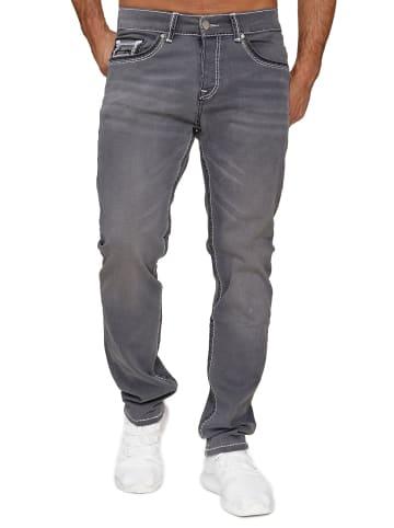 AMICA JEANS Denim Jeans Dicke Doppel Naht Hose Big Fat Seam in Grau