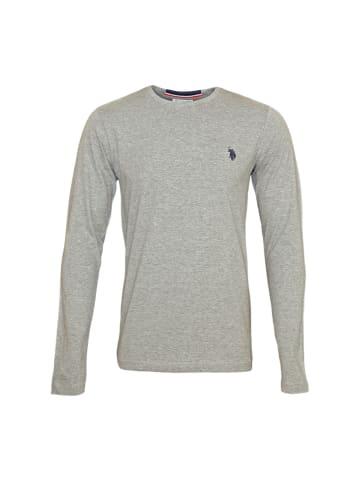 U.S. Polo Assn. Polo LongSleeve Shirt in Hellgrau