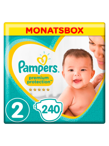"""Pampers MonatsBox """"Pampers Premium Protection New Baby"""" Gr.2 Mini, 4-8kg (240 Stück)"""