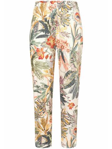 Green Cotton 7/8-Hose Hose in beige/multicolor