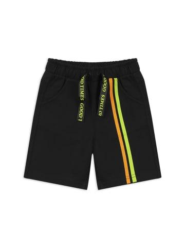 Panco Kurze Hose - mit Streifendetail - für Jungen in Schwarz