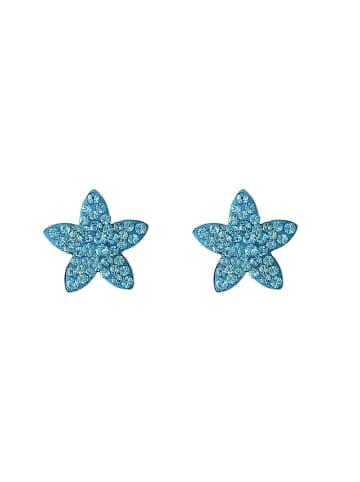 """Exclusive Edition  Ohrringe """"Stars"""" mit Swarovski Kristallen in Aqua"""