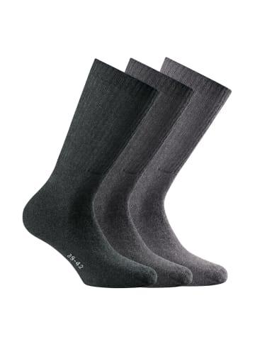 Rohner Socken 3er Pack in Hellgrau/Grau/Dunkelgrau