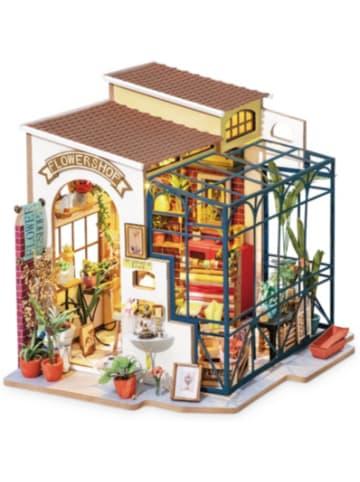 Robotime Emily's Flower Shop - 3D-Holzpuzzle Miniaturhaus-Bastelset, 258 Teile