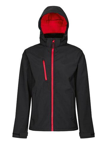Regatta Professional Softshelljacke  Venturer 3-layer mit Kapuze in Black-Classic Red