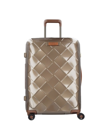 Stratic Leather & More 4-Rollen Trolley 65 cm in champagne