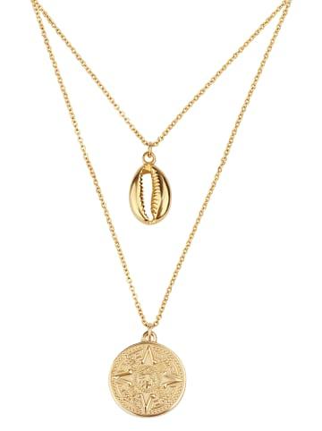 GOOD.designs Kette mit Anhänger Muschel Halskette in gold