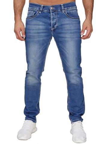 AMICA JEANS Denim Jeans Dicke Weiße Nähte Hose Big Seam in Blau
