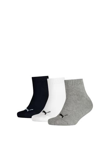 Puma Socken 3er Pack in Grau/Weiß/Schwarz