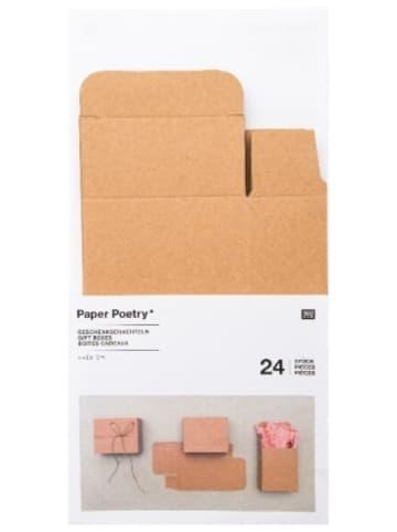 Rico Design Adventskalender Boxen Kraftpapier, 24 Stück
