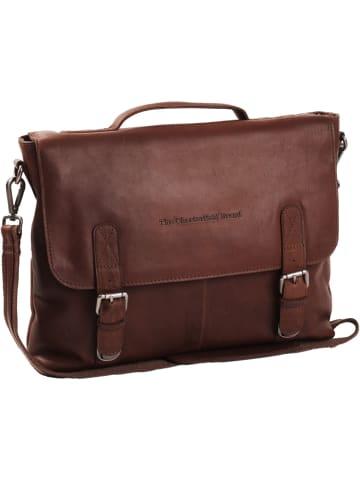 The Chesterfield Brand Wax Pull Up Jules Aktentasche Leder 38 cm Laptopfach in braun