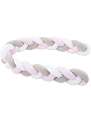 Babybay Nestchenschlange geflochten passend für alle Modelle, weiß/beige/rosé