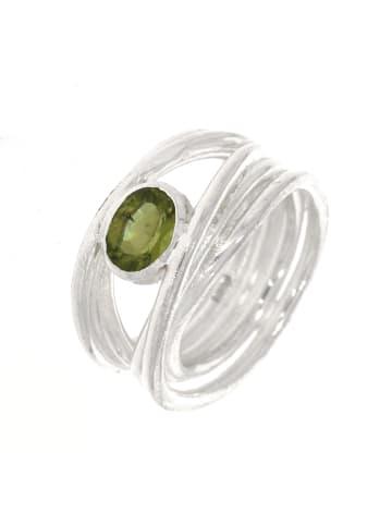 "Luxxos Ring ""7 x 6 mm Peridot"" in silber und grün"