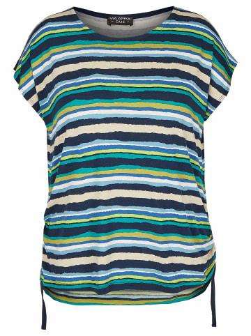VIA APPIA Rundhals T-Shirt in blau