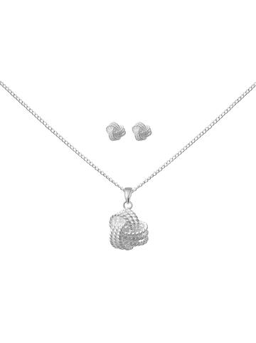 Alexander York Schmuckset GLÜCKSKNOTEN in 925 Sterling Silber, 4-tlg.