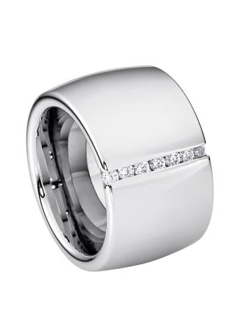 Steel_Art Ring Lines glanzmatt in Silberfarben Poliert