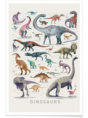 """Juniqe Poster """"Dinosaurs"""" in Bunt"""