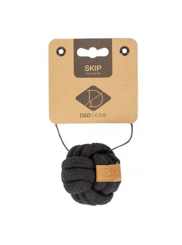 DREAM and DARE  Hundespielzeug Knotenball Skip XS, Ø 6 cm, schwarz