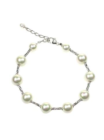 Perlas Orquidea  Perlenarmband Alondra Bracelet in weiß