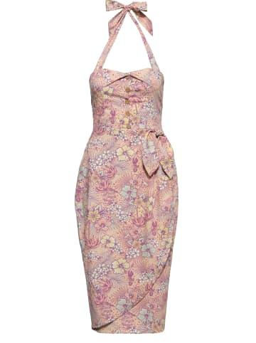 Queen Kerosin Damen Sommerkleid in coral