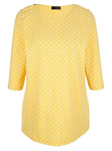 MIAMODA Shirt in Gelb,Weiß