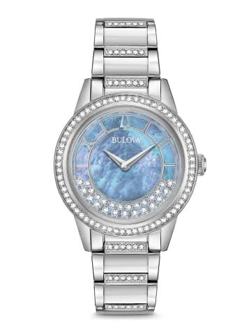 Bulova Analog Uhr 'Turnstyle' in Silber/Perlmutt