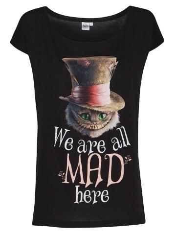 Disney Alice in Wonderland  Loose-Shirt Cheshire Cat Mad in schwarz