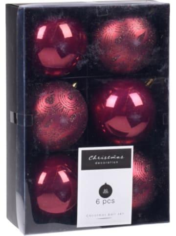 Koopman 6er-Set Weihnachtskugeln Ø8cm