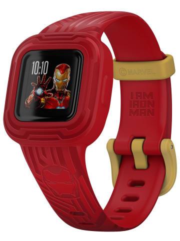 Garmin vivofit jr. 3 Kinder Action Watch Marvel Iron Man Schwarz / Rot