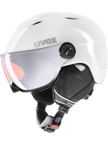 Uvex Skihelm jun.visor pro white-grey