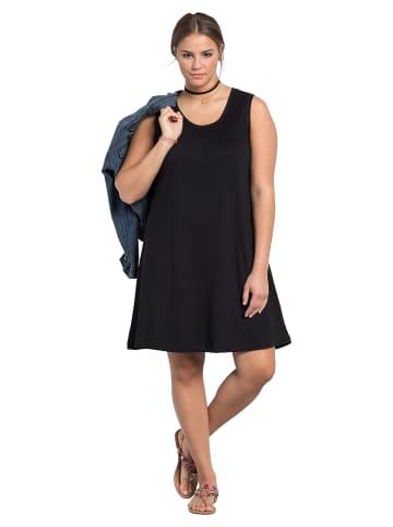 Sheego Shirtkleid in schwarz