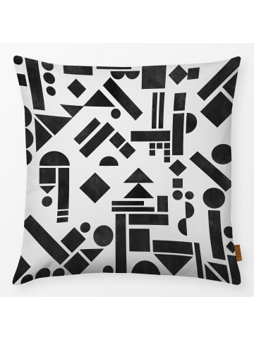 """Textilwerk.com Kissen """"Geometry1"""" in Schwarz / Weiss"""