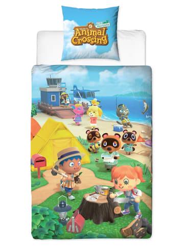 """Nintendo  Kinder Bettwäsche-Set """"NINTENDO Animal Crossing New Horizons"""" in Bunt"""
