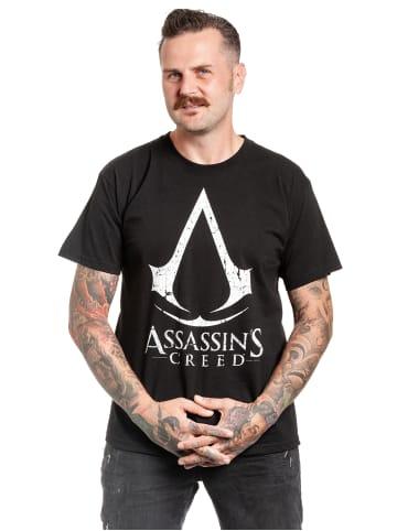 Ubisoft T-Shirt Assassins Creed Cracked Logo in schwarz