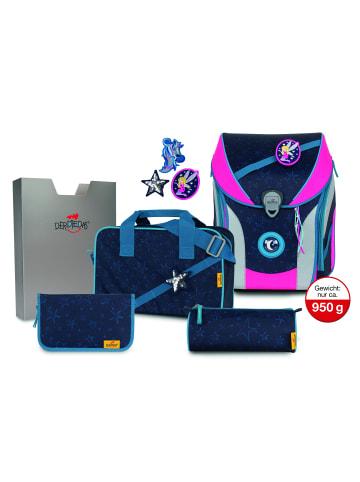 DerDieDas ErgoFlex Max Buttons Schulranzen-Set 5tlg. in blue fairy