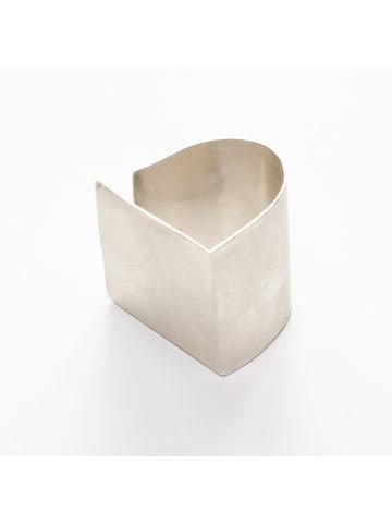 """Monom Ring """"PLATTITUDE"""" in Silber"""