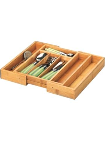 Zeller Present Ausziehbarer Bambus Besteckkasten, 5-7-Fächer