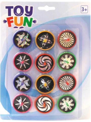 Party Fun Laserkreisel, 12 Stück