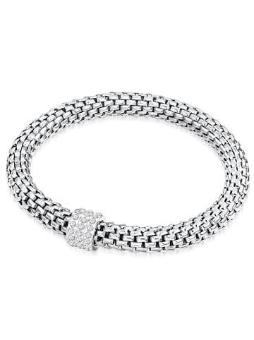 Rafaela Donata Armband Edelstahl Glas in Silber in silber