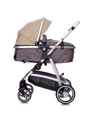 """Lalalux Kinderwagen """" Babyboomer """" in beige/dunkelgrau"""