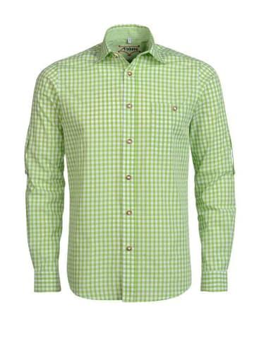 Alphorn Trachtenhemd in grün