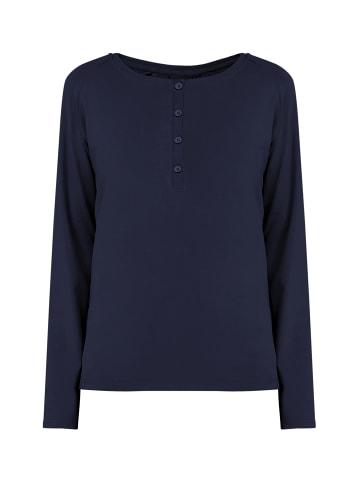 Finn Flare Basic-Shirt in dark blue