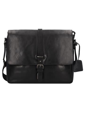 Leonhard Heyden Roma Aktentasche Leder 35 cm Laptopfach in schwarz