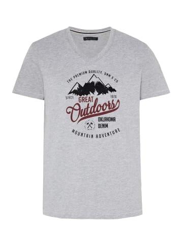 Oklahoma Premium Denim T-Shirt in M Grey/Blck Dif
